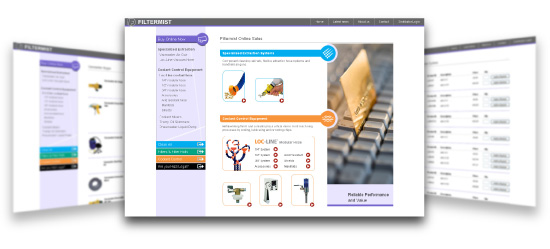 Filtermist UK ecommerce website